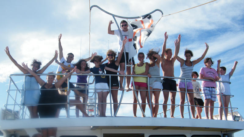 à bord du bateau moteur davide arias di festa