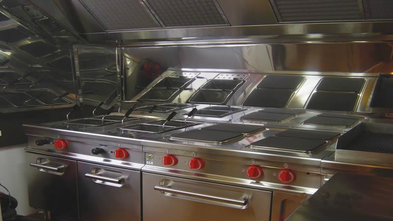 cucina a bordo della motonave davide